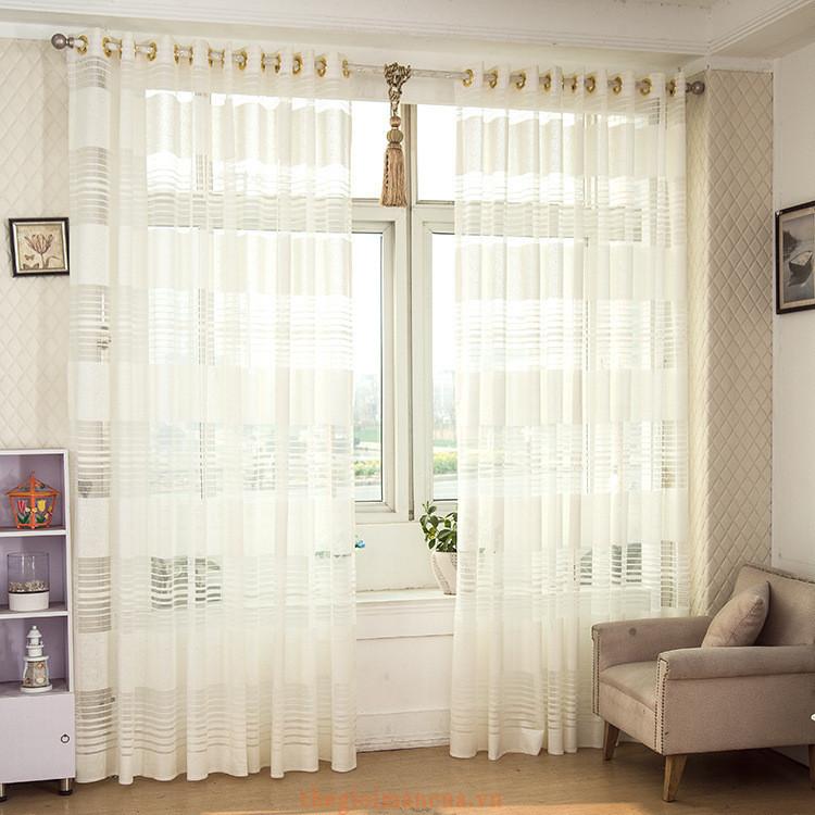 Rèm vải voan phòng khách đẹp - Thế Giới Màn Cửa