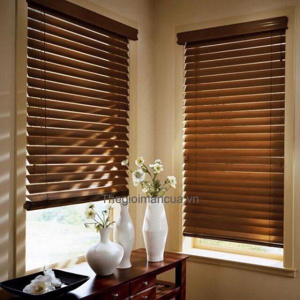 Rèm gỗ tự nhiên cửa sổ phòng ngủ